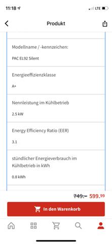 Klimagerät betreiben mit 6A absicherung?