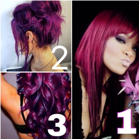 Bild 2 und 3 sind erwünscht. Von Bild eins habe ich gerade eine Strähne  - (Mädchen, Haare, Beauty)