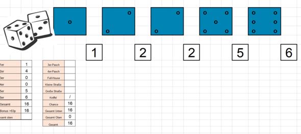 Kniffel in Excel programmieren?