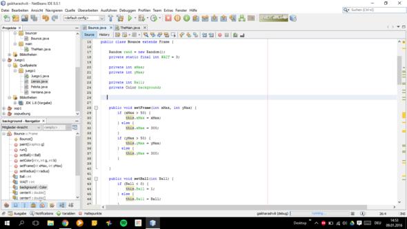 Bounce Class - (Programm, programmieren, Java)
