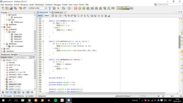 Bounce Class 1 - (Programm, programmieren, Java)