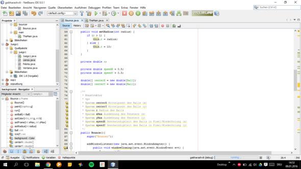Bounce Class 2 - (Programm, programmieren, Java)