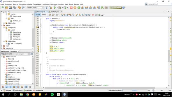 Bounce Class 3 - (Programm, programmieren, Java)