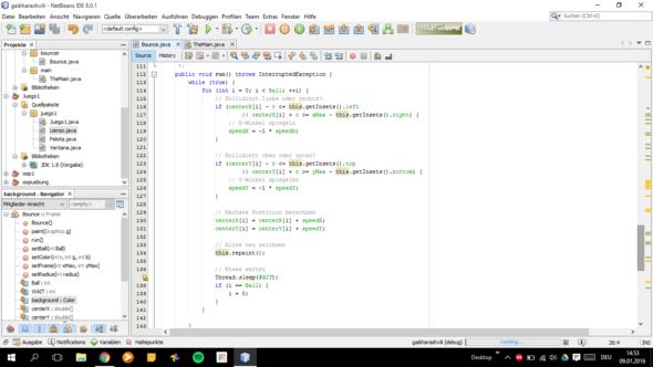 Bounce Class 4 - (Programm, programmieren, Java)