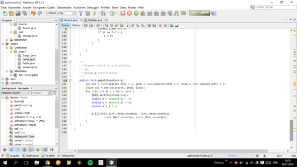 Bounce Class 5 - (Programm, programmieren, Java)