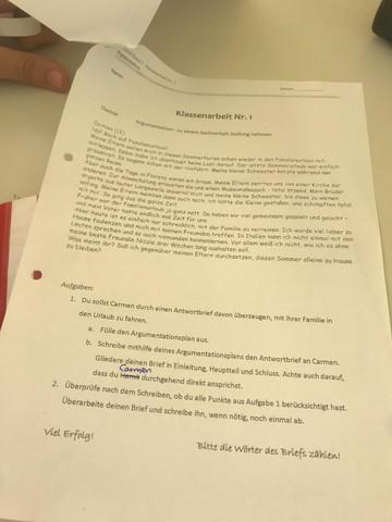 Könnt Ihr Mir Helfen Einen Argumentierenden Brief Zu Schreiben