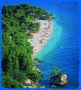 Brela, mit dem Strand Punta Rata - (Strand, Kroatien, Steine)