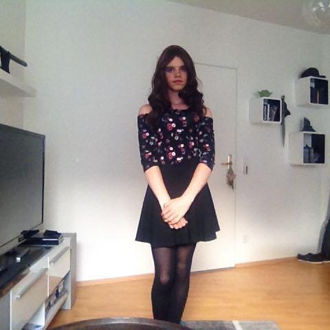 Ein Bild von mir als Mädchen - (Mädchen, Junge, verkleiden)