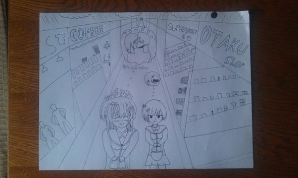 Das hier hab ich erst letztens selbstgemalt das ist ne eigenkreation A3 - (Manga, zeichnen)