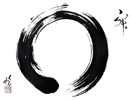 k nnte mir jemand die genaue bedeutung der zeichen die um den zen kreis dargestellt sind. Black Bedroom Furniture Sets. Home Design Ideas