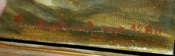 1. - (Künstler, Gemälde, Signatur)