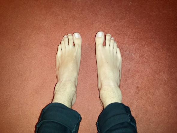 Füße (nicht auf Boden, locker gelassen)  - (Gesundheit, Aussehen, Füße)
