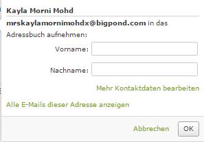 Kayla Morni Mohd - (Internet, Geld, E-Mail)