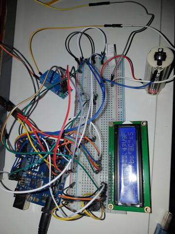 Projektaufbau - Kabelgewirr - (Computer, Auto und Motorrad, Display)