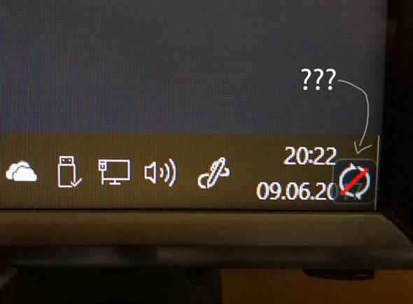 komisches Symbol in der Taskleiste (Synch)? (Grafikkarte, Windows 10 ...
