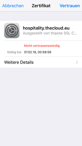 Der Name dieses 'Hosters' - (Internet, iOS, Safari)