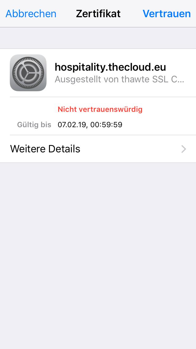 Iphone Safari Zertifikate Löschen