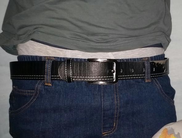 Blaue Jeans+Cooler Schwarzer Ledergürtel etc. - (Mode, Kleidung)