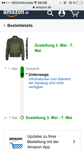 Das versand bild - (Amazon, Paket, Jacke)