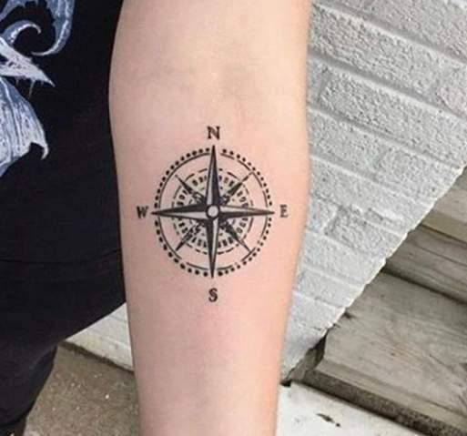 Oberarm innen tattoo