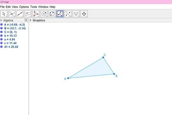 Konstruiere (mit Bsp. Höhensatz, Kath. Satz usw.) ein Rechteck, das den doppelten Flächeninhalt des Dreiecks ABC und den Umfang 40 hat.?