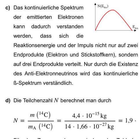 Lösung c) - (Schule, Physik, Energie)