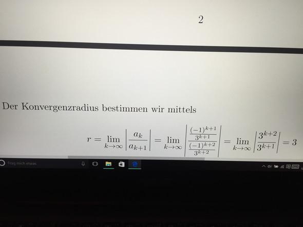 Bild - (Mathematik, Taylorreihe Konvergenzradius)