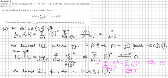Konvergenz einer geometrische Reihe?