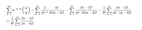 Konvergenz einer Reihe mit Binomialkoeffizient und Fakultät?