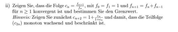 Aufgabe - (Mathe, Grenzwert, Zahlenfolgen)