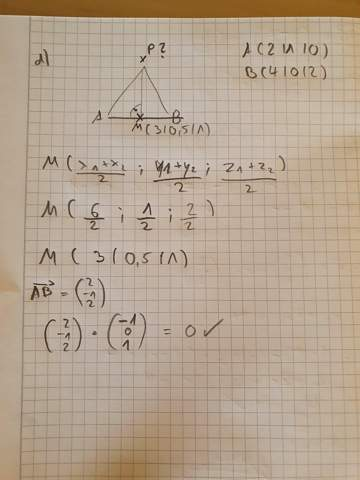 Koordinate des Punktes P bestimmen bei gleichseitigem Dreieck?