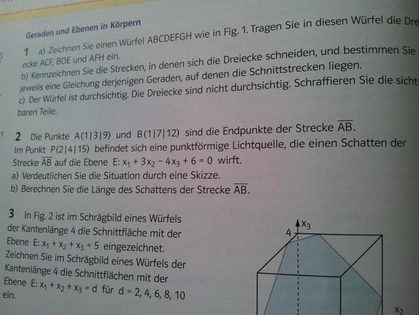 Die Aufgabe - (Mathe, Mathematik, Abitur)