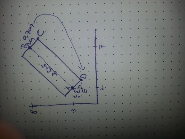 koordinatensystem schwierige strecke zwischen punkten. Black Bedroom Furniture Sets. Home Design Ideas