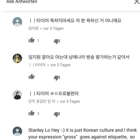 Koreanische Kommentare übersetzen Youtube übersetzung Korea