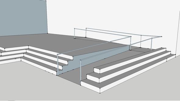 Rampenkonstruktion - (Treppe, Konstruktion, Sketchup)