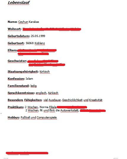 korrektur an bewerbungsschreiben fr einen praktikum bewerbung - Bewerbung Auf Trkisch