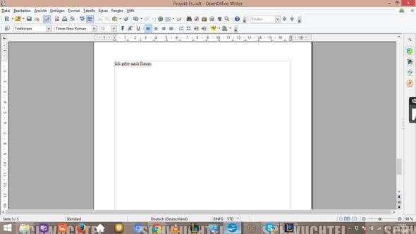 Bsp. - (OpenOffice, korrekturfunktion)