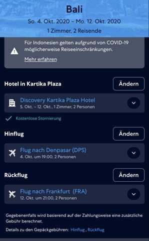 Kosten bei Reisestornierung(Expedia)?