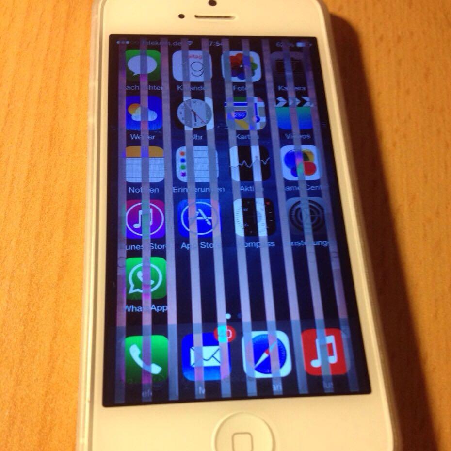 Iphone Hat Weiße Streifen Und Touchscreen Funktioniert Nicht Mehr