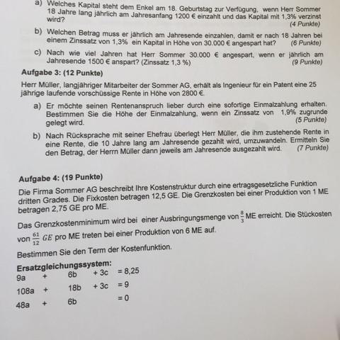 Aufgabe  - (Mathe, Mathematik, Nachhilfe)