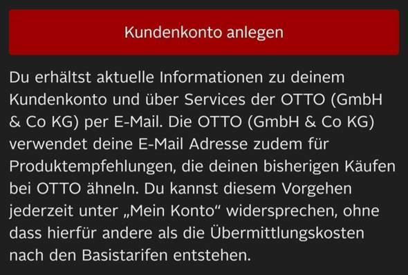 Kostenlos bei OTTO anmelden?