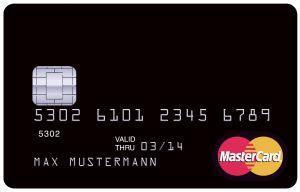 schwarze MasterCard Kreditkarte - (Kreditkarte, Mastercard, kostenlose Kreditkarte)
