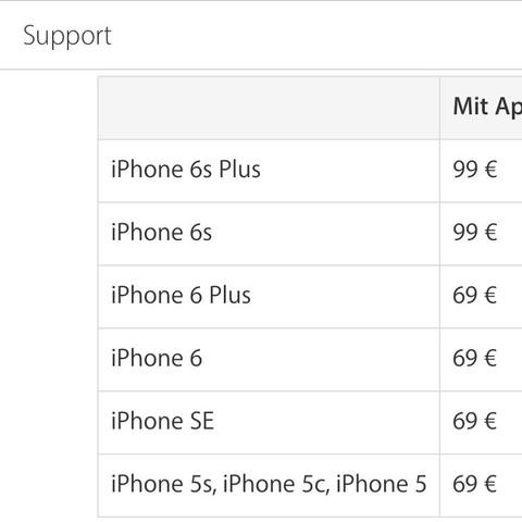 Apple Preisliste  - (iPhone, Apple, IPhone 6)