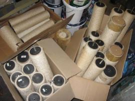 kratzbaum selber bauen sisalstamm haus katzen. Black Bedroom Furniture Sets. Home Design Ideas