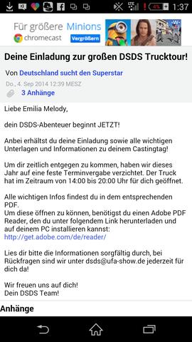 Die Mail - (Bewerbung, Dsds)