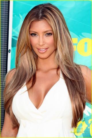 Lange haare mit farbe