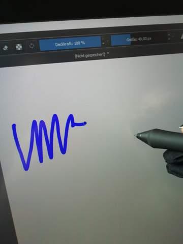 Krita Stift zeichnet versetzt?