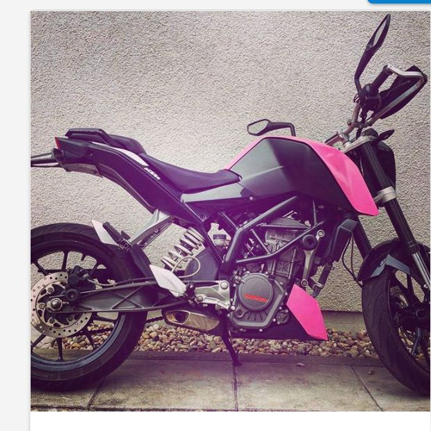 ktm duke 125 in pink wo kaufen motorrad 125er rosa. Black Bedroom Furniture Sets. Home Design Ideas