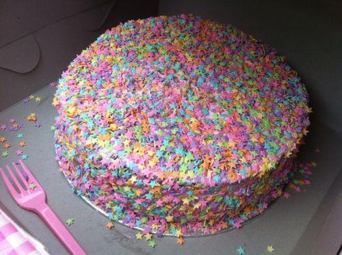 Sternchenkuchen - (Geburtstag, backen, Geburtstagsgeschenk)
