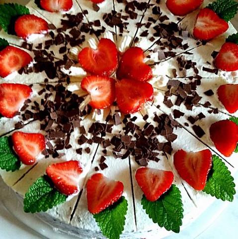 Erdbeertorte - (backen, Kuchen, Torte)